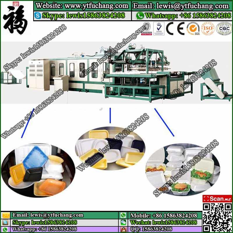 Sigle machine PS foamed sheet production line PS Fast Food Container Making Machinery