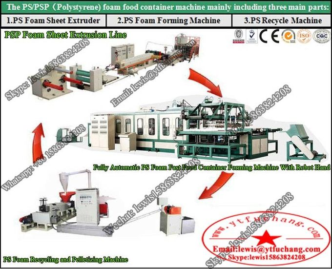 Best Quality PS foaming sheet extruder PS Fast Food Container Making Machinery